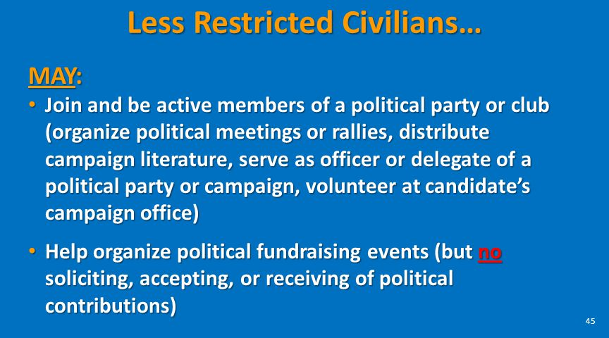 Less Restricted Civilians…