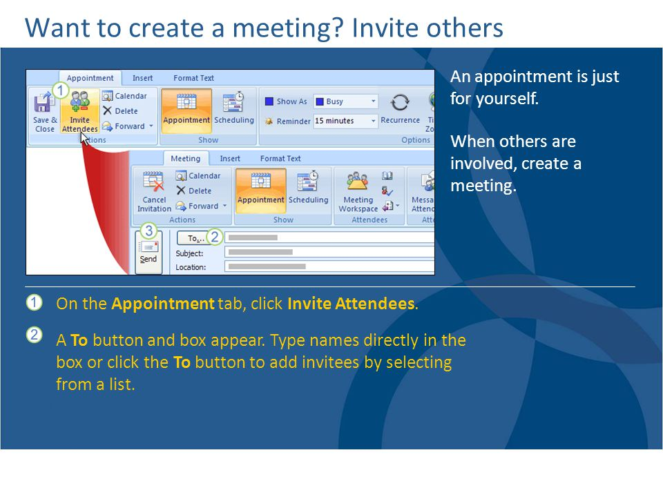 Want to create a meeting Invite others