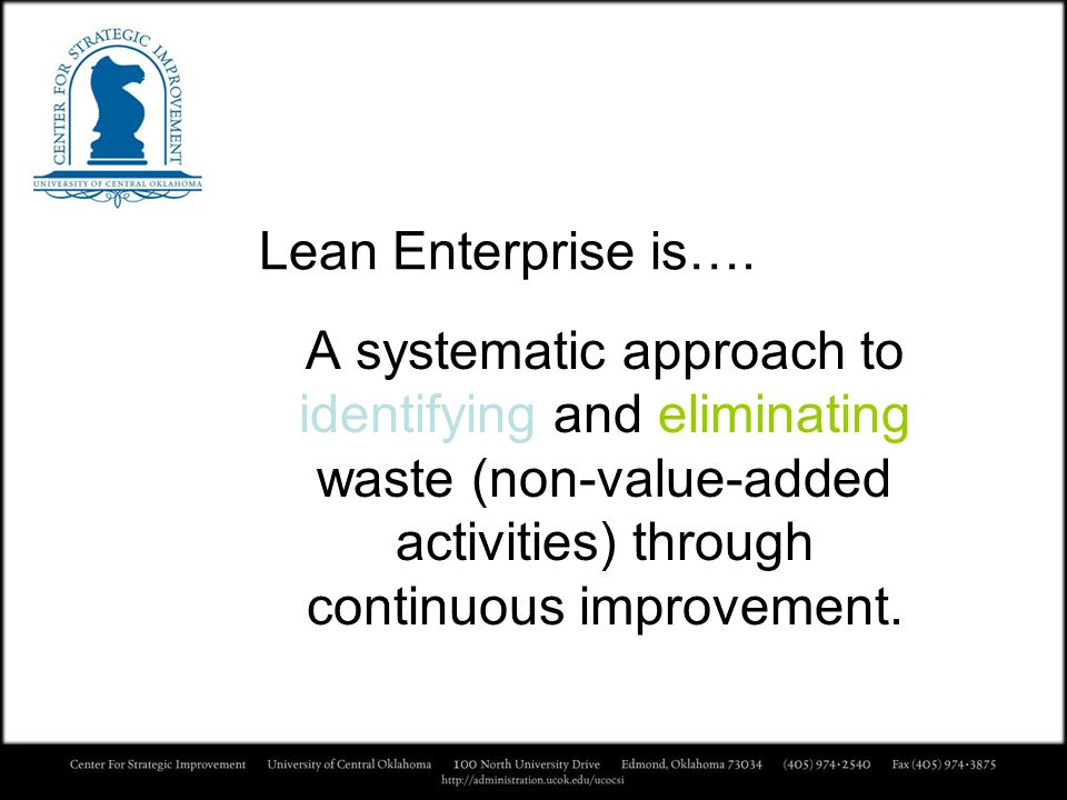 Lean Enterprise is….