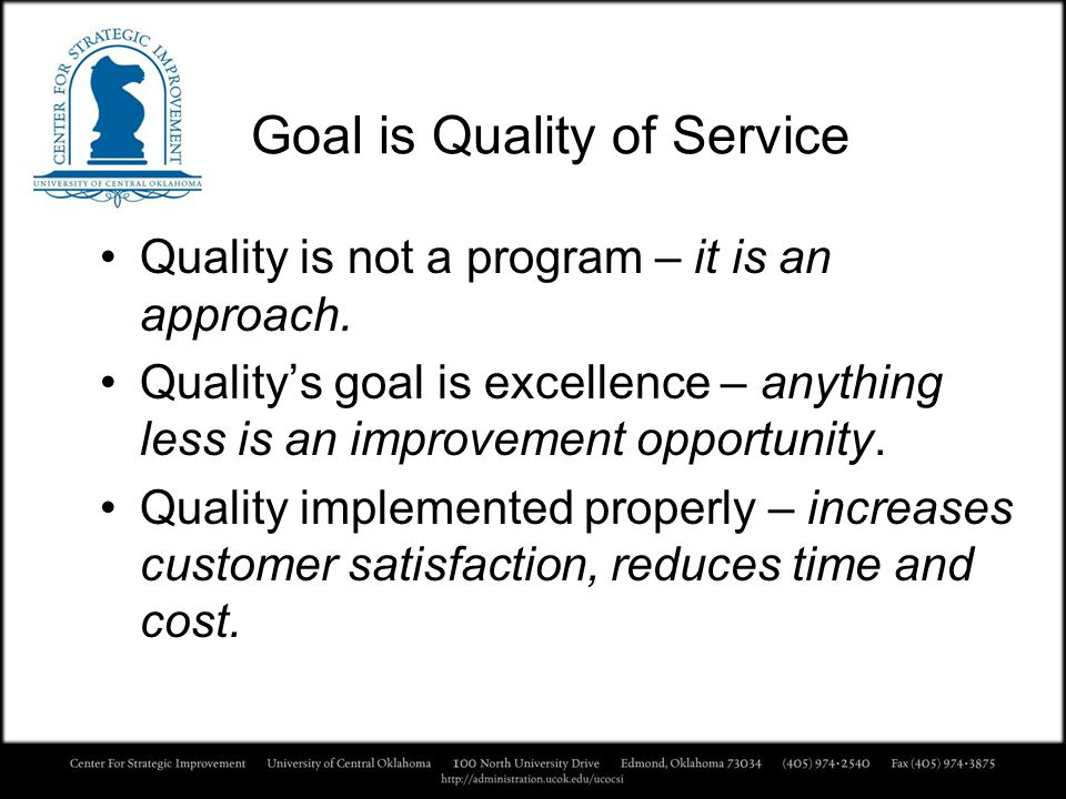 Goal is Quality of Service