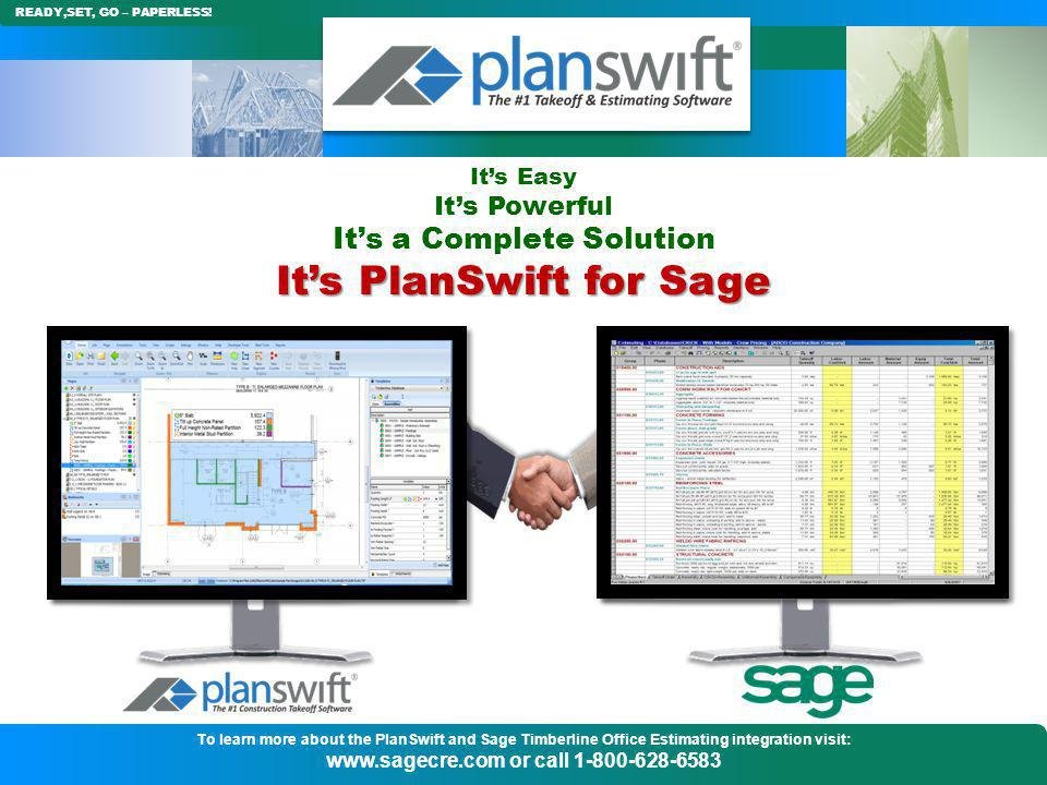 It's PlanSwift for Sage