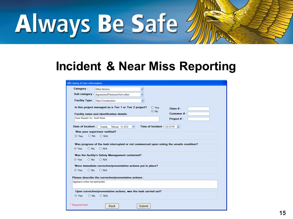 Incident & Near Miss Reporting