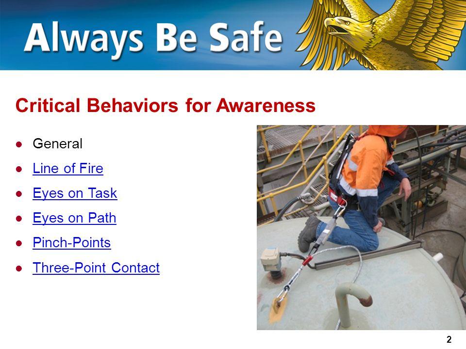 Critical Behaviors for Awareness