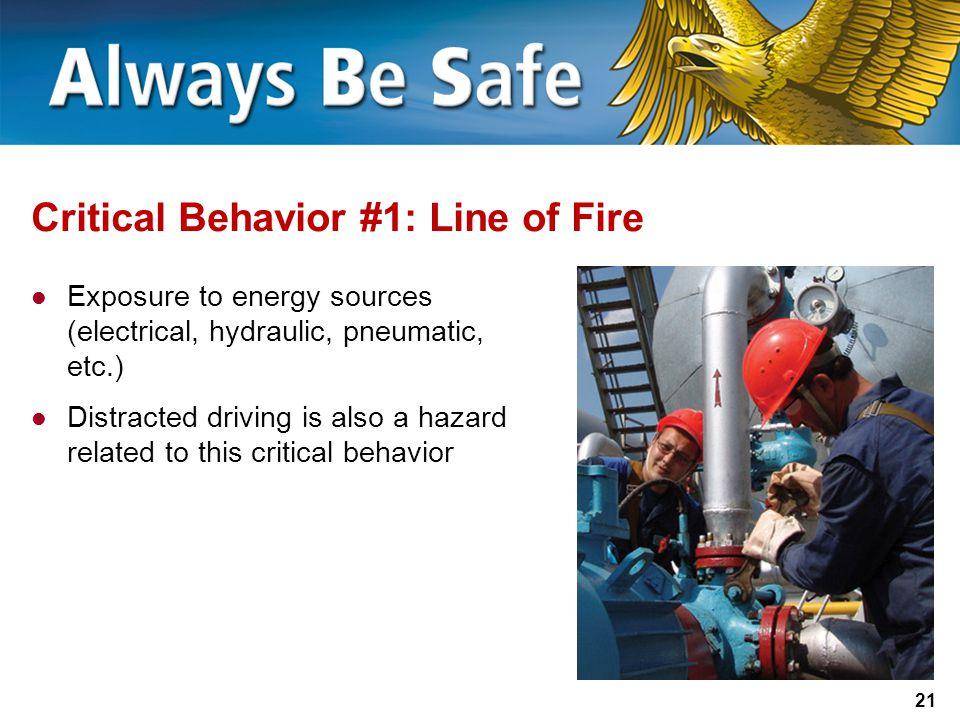 Critical Behavior #1: Line of Fire