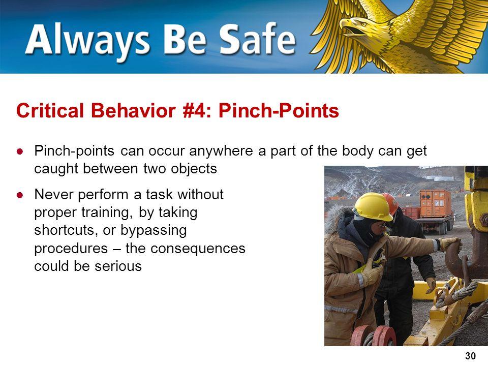 Critical Behavior #4: Pinch-Points