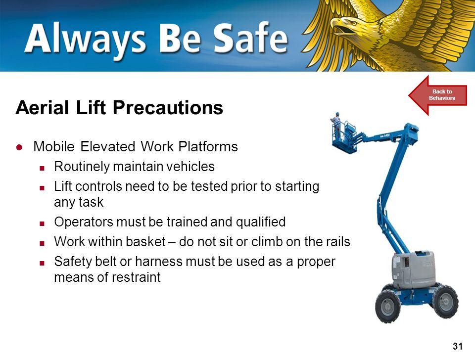 Aerial Lift Precautions