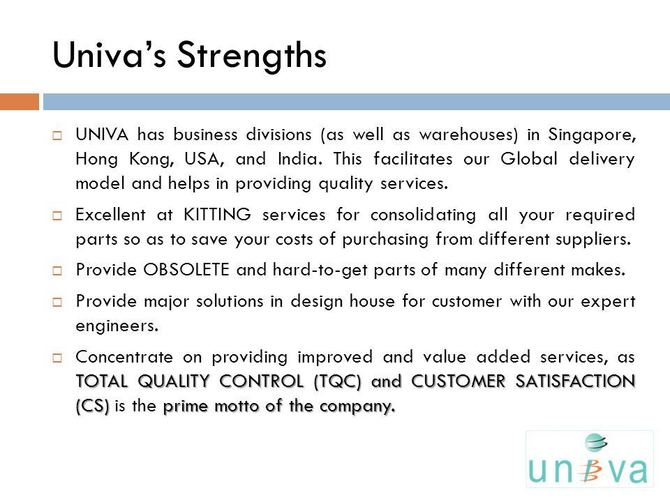 Univa's Strengths
