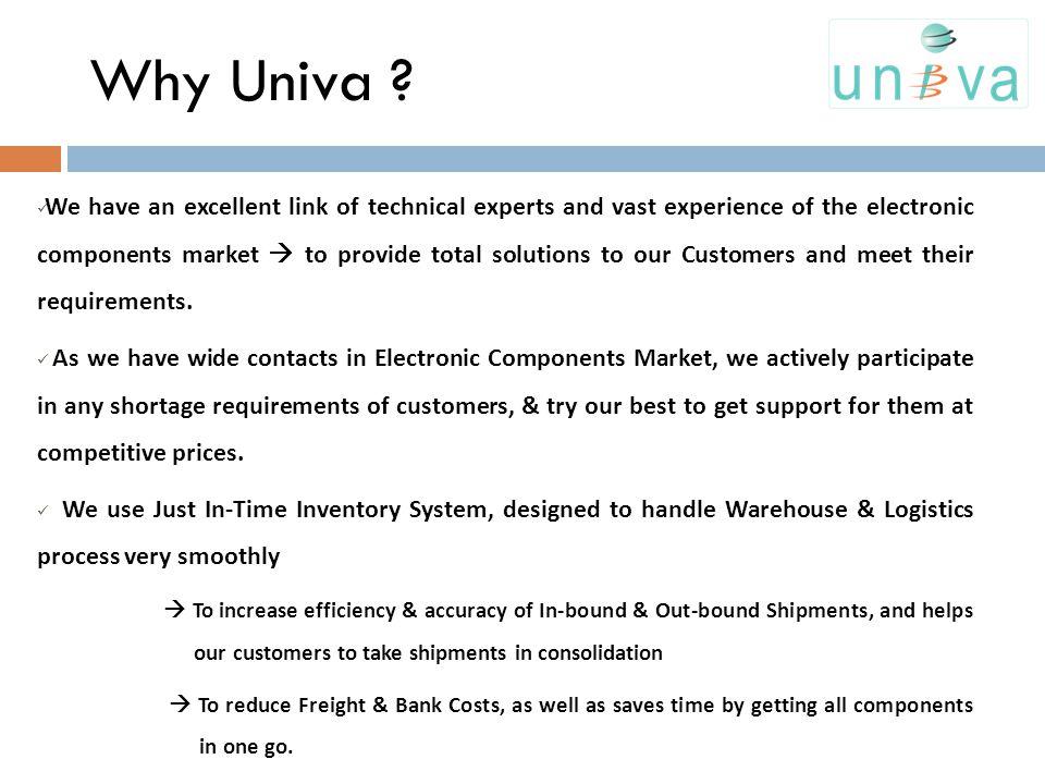Why Univa