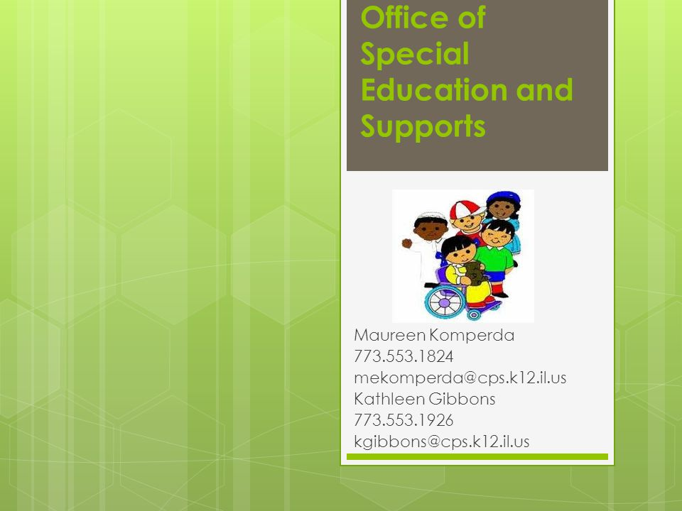 Office of Special Education and Supports