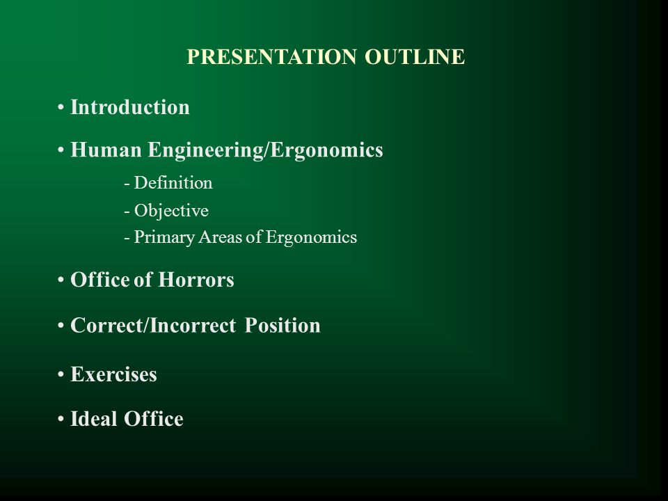 Human Engineering/Ergonomics - Definition