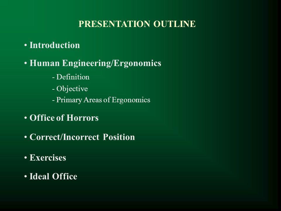 Human Engineering/Ergonomics - Definition