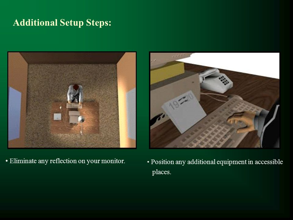 Additional Setup Steps:
