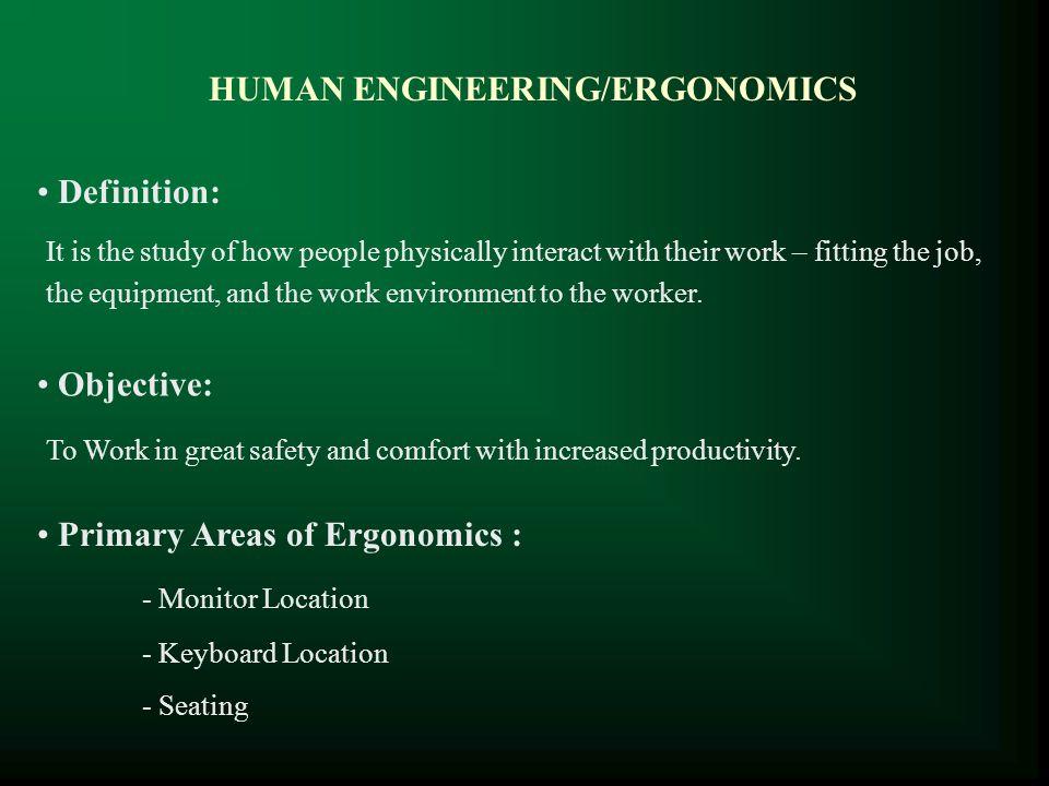 HUMAN ENGINEERING/ERGONOMICS