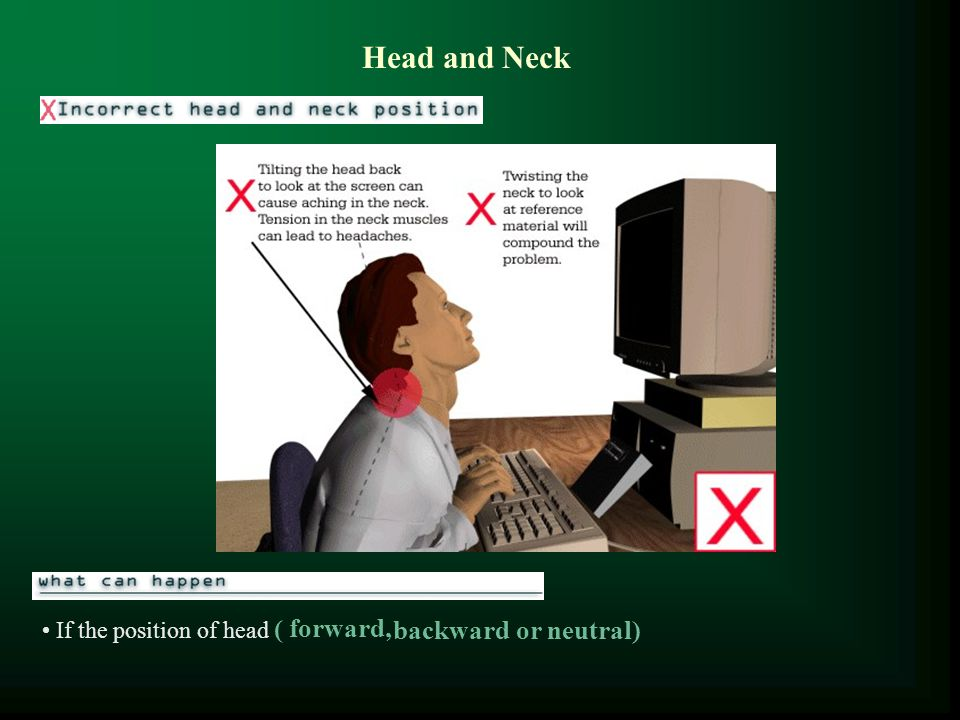 Head and Neck If the position of head ( forward, backward or neutral)