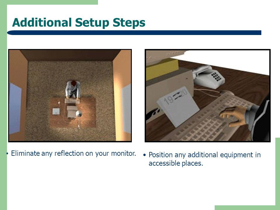 Additional Setup Steps