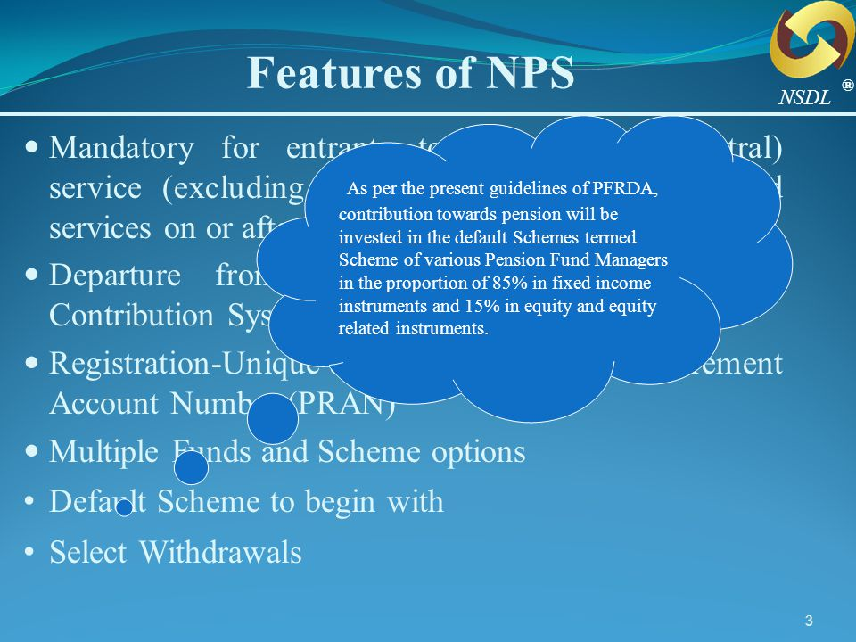 Features of NPS ® NSDL.