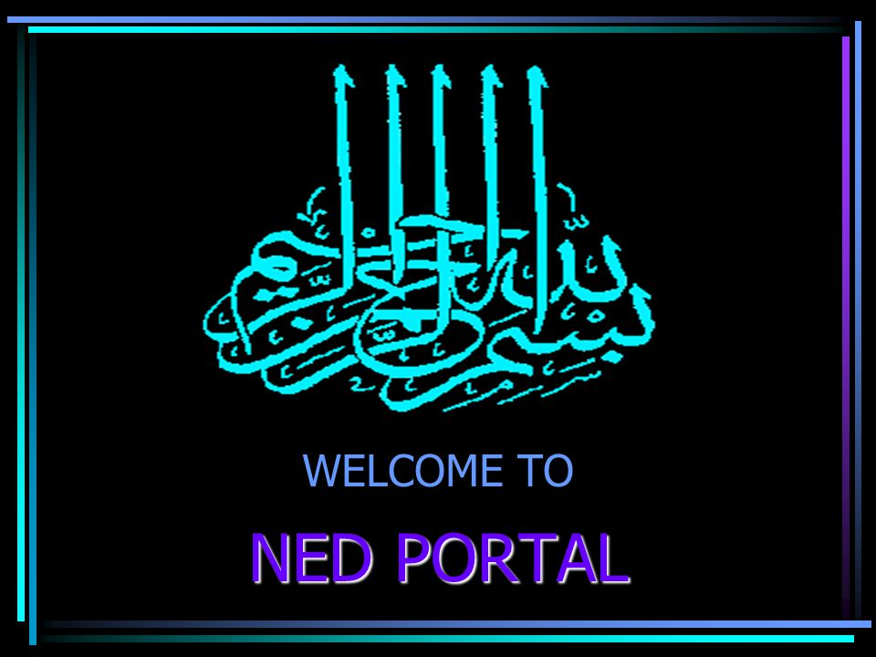 WELCOME TO NED PORTAL
