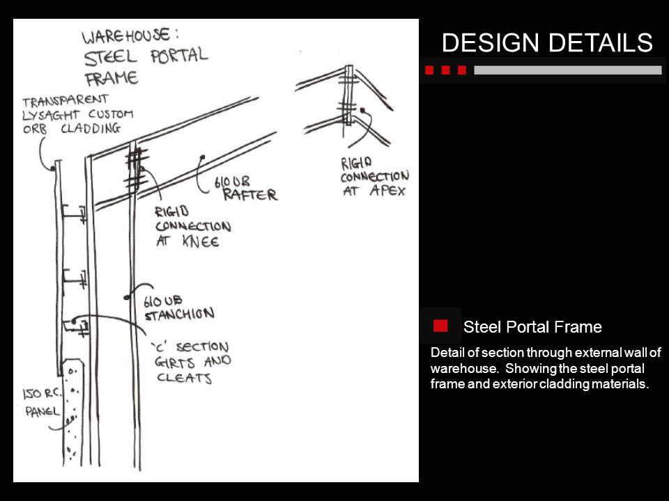 DESIGN DETAILS Steel Portal Frame