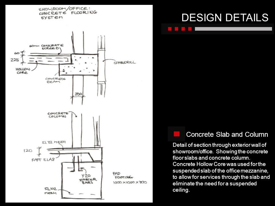 DESIGN DETAILS Concrete Slab and Column