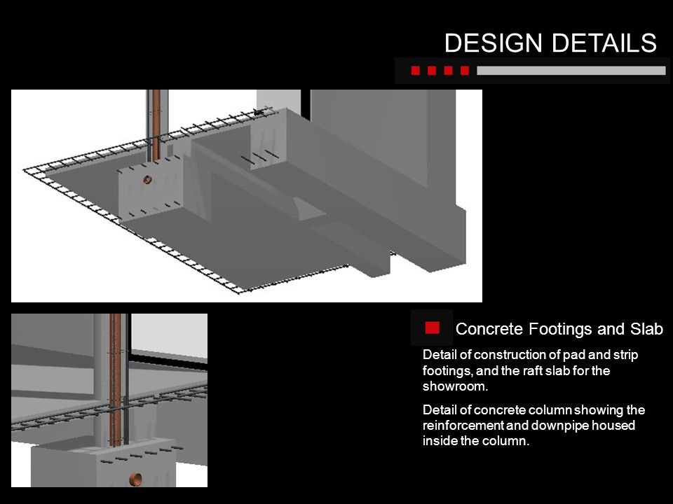 DESIGN DETAILS Concrete Footings and Slab