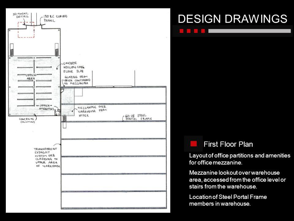 DESIGN DRAWINGS First Floor Plan