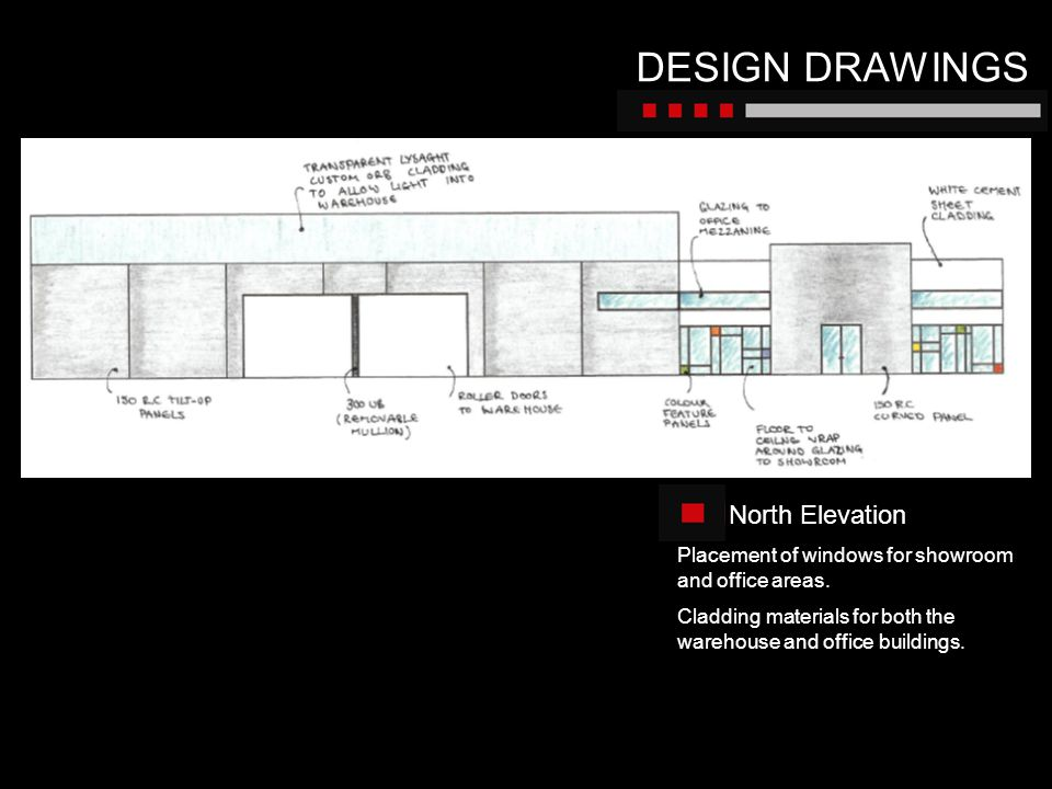 DESIGN DRAWINGS North Elevation