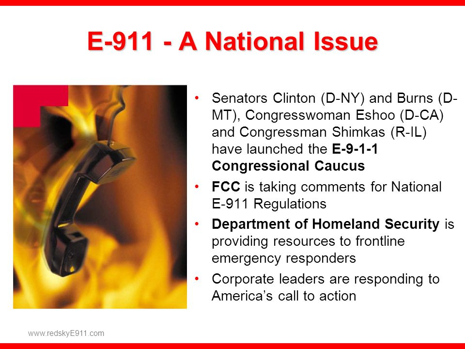 E-911 - A National Issue