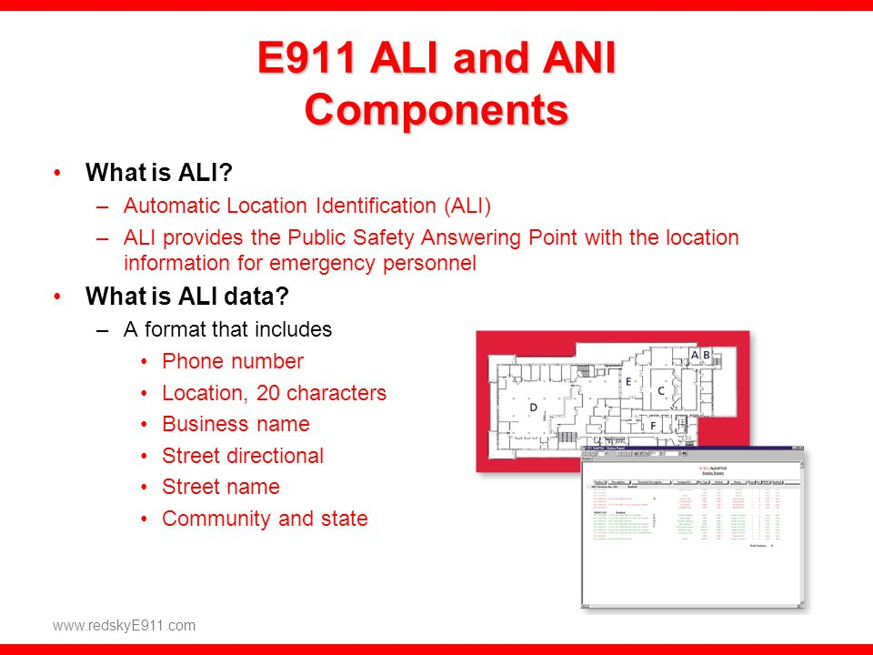 E911 ALI and ANI Components