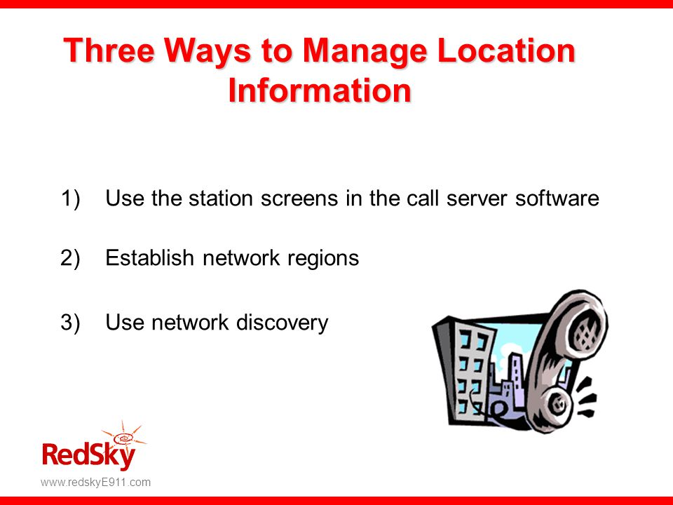 Three Ways to Manage Location Information