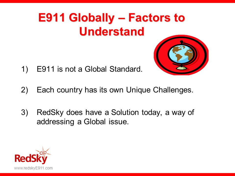 E911 Globally – Factors to Understand