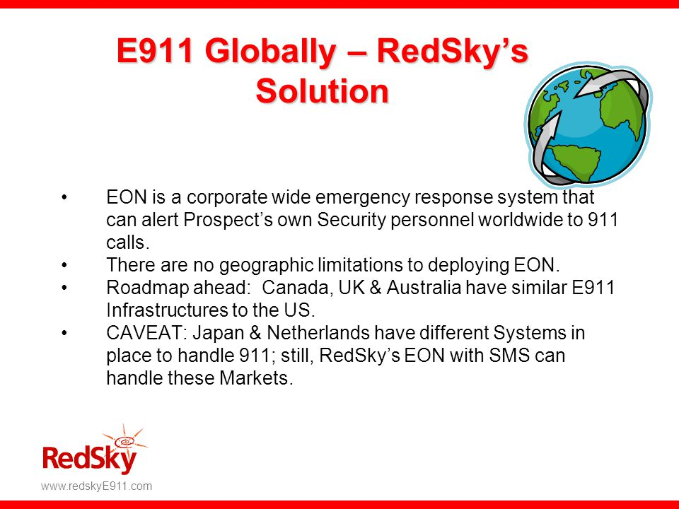 E911 Globally – RedSky's Solution
