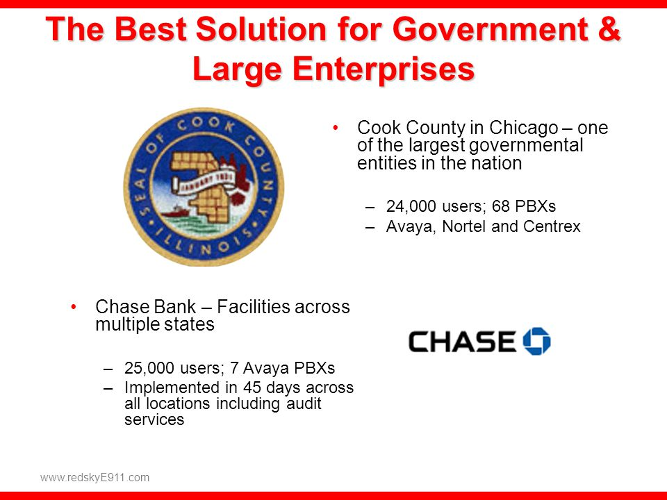 The Best Solution for Government & Large Enterprises