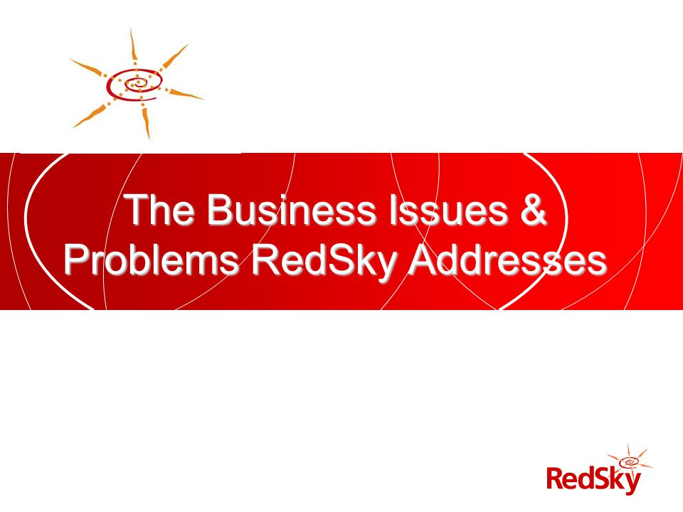 The Business Issues & Problems RedSky Addresses