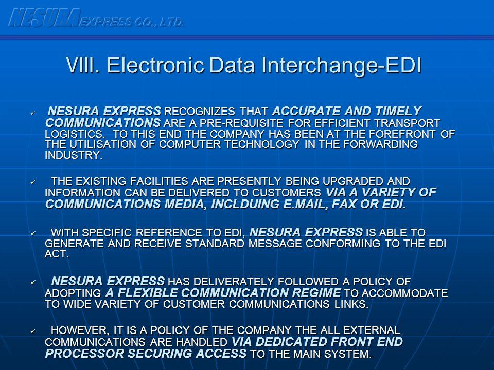 Ⅷ. Electronic Data Interchange-EDI