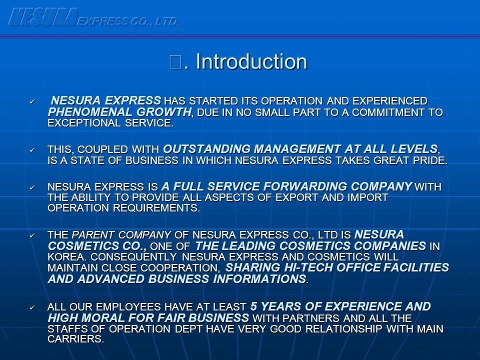 NESURA EXPRESS CO., LTD. Ⅰ. Introduction