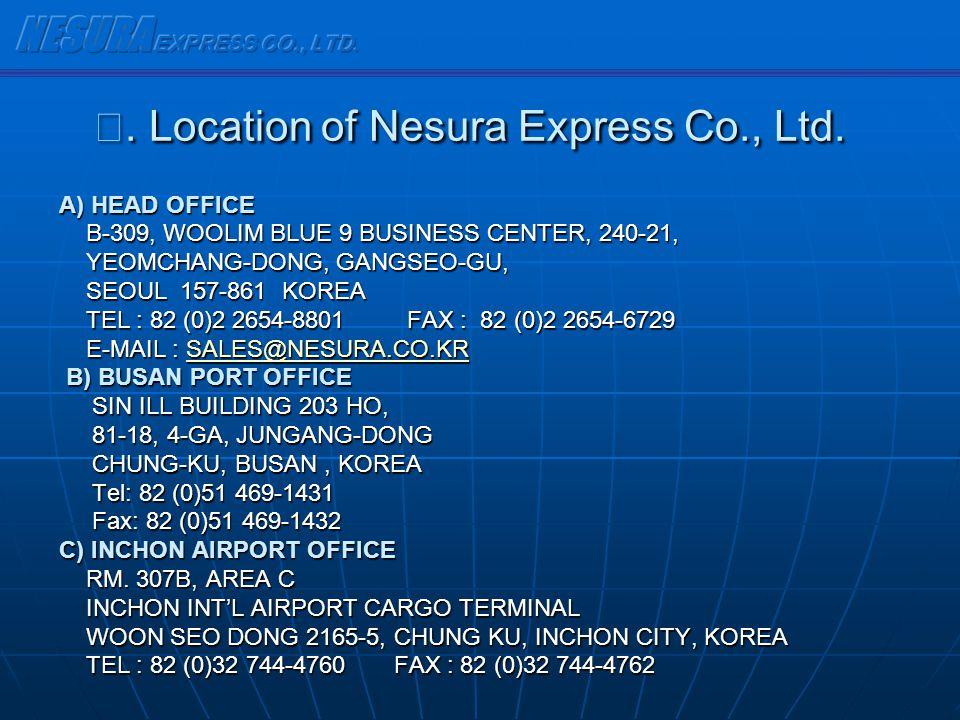 Ⅳ. Location of Nesura Express Co., Ltd.