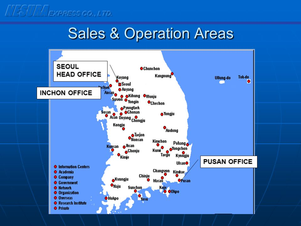 Sales & Operation Areas