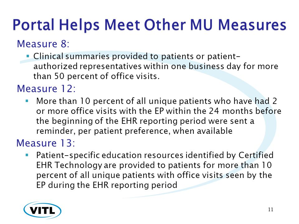 Portal Helps Meet Other MU Measures