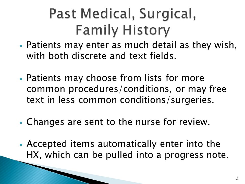 Past Medical, Surgical, Family History