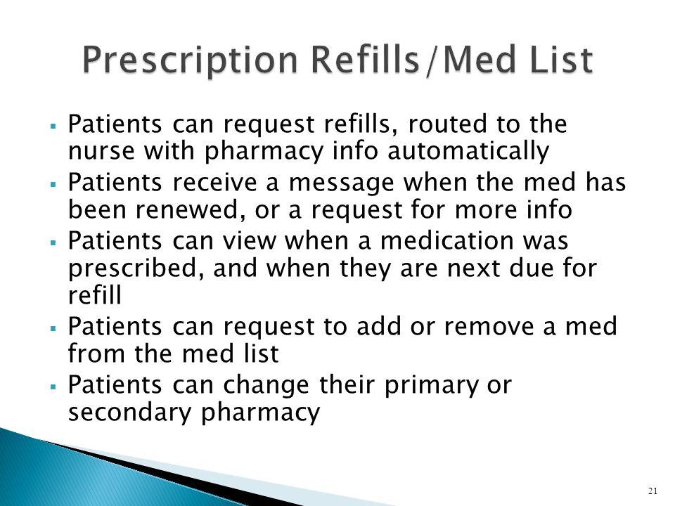 Prescription Refills/Med List
