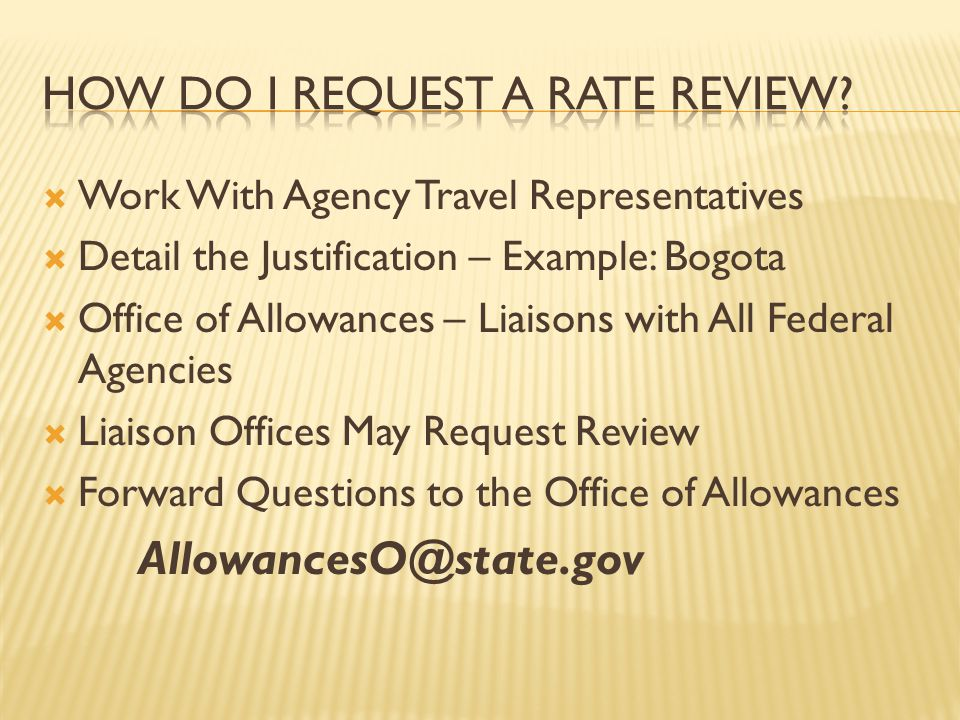 How do I Request a Rate Review