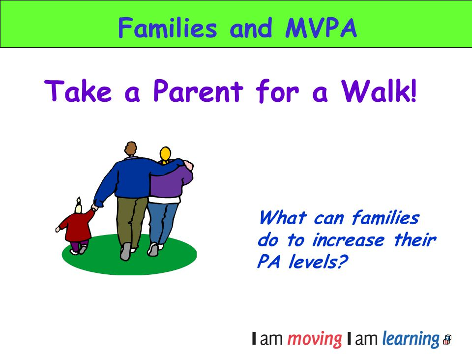 Take a Parent for a Walk! Families and MVPA