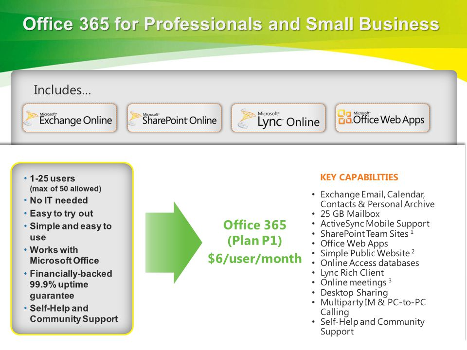 Office 365 for Professionals and Small Business