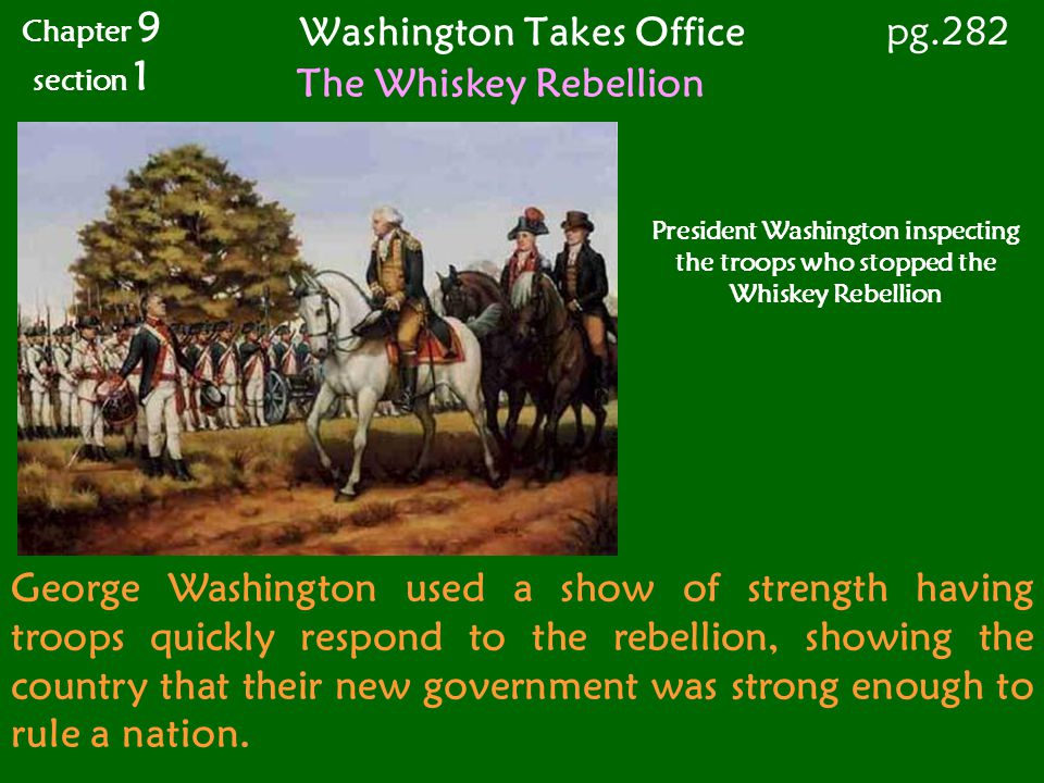 Washington Takes Office