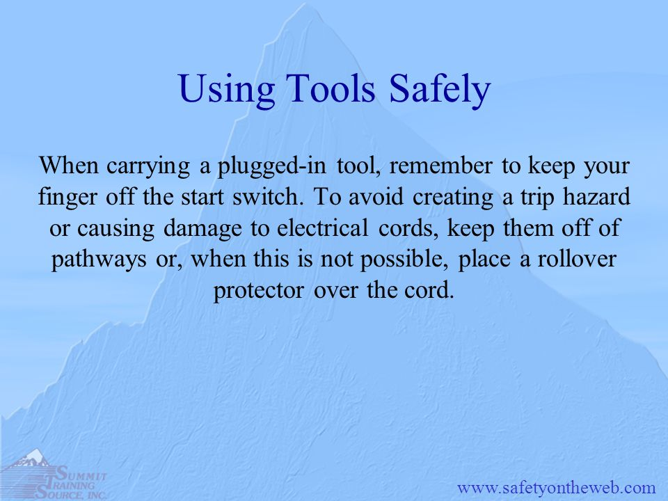 Using Tools Safely