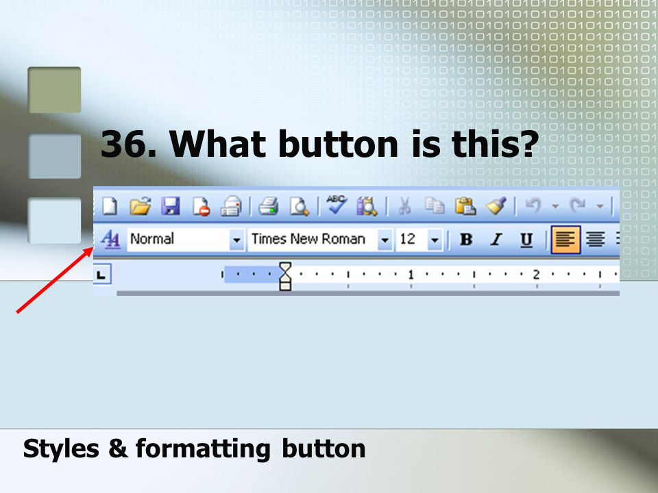 Styles & formatting button