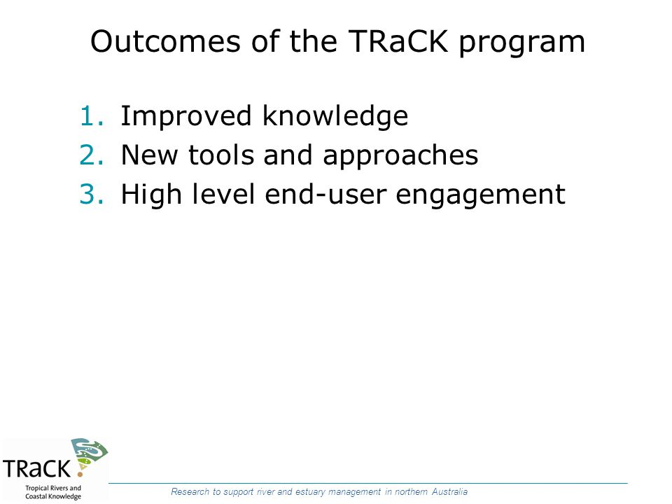 Outcomes of the TRaCK program