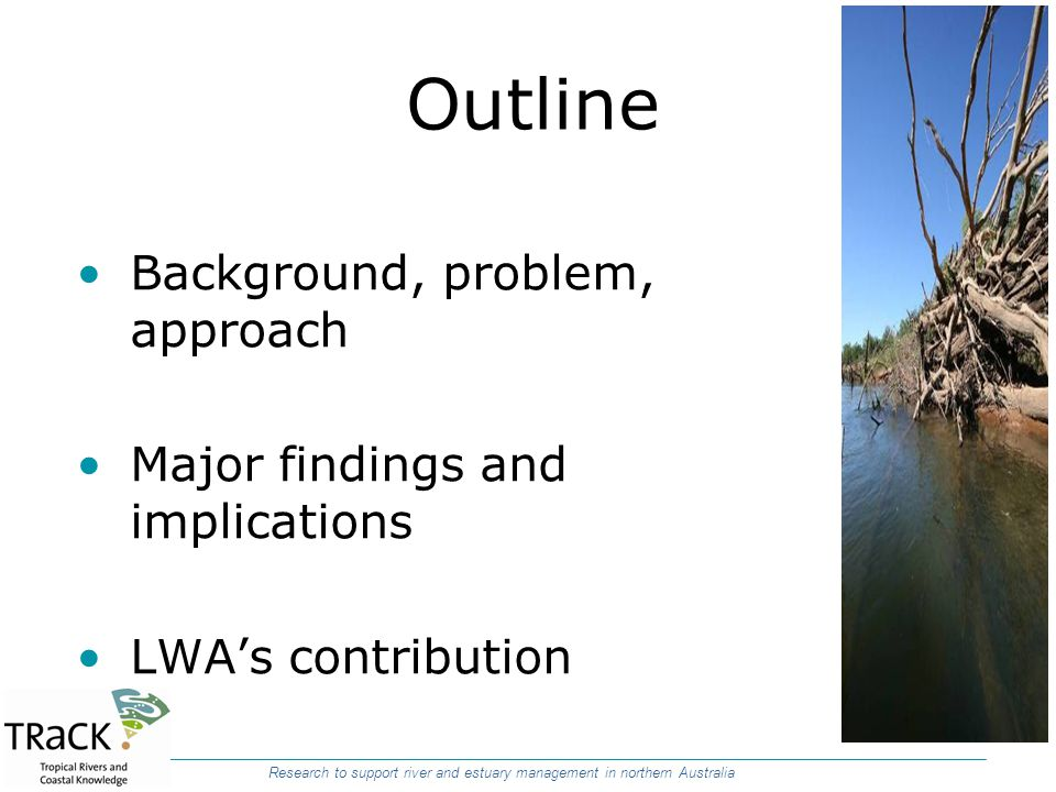 Outline Background, problem, approach Major findings and implications