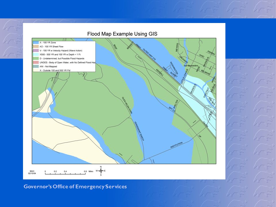 This an example of a flood plain map using GIS or geographic information systems as a tool.