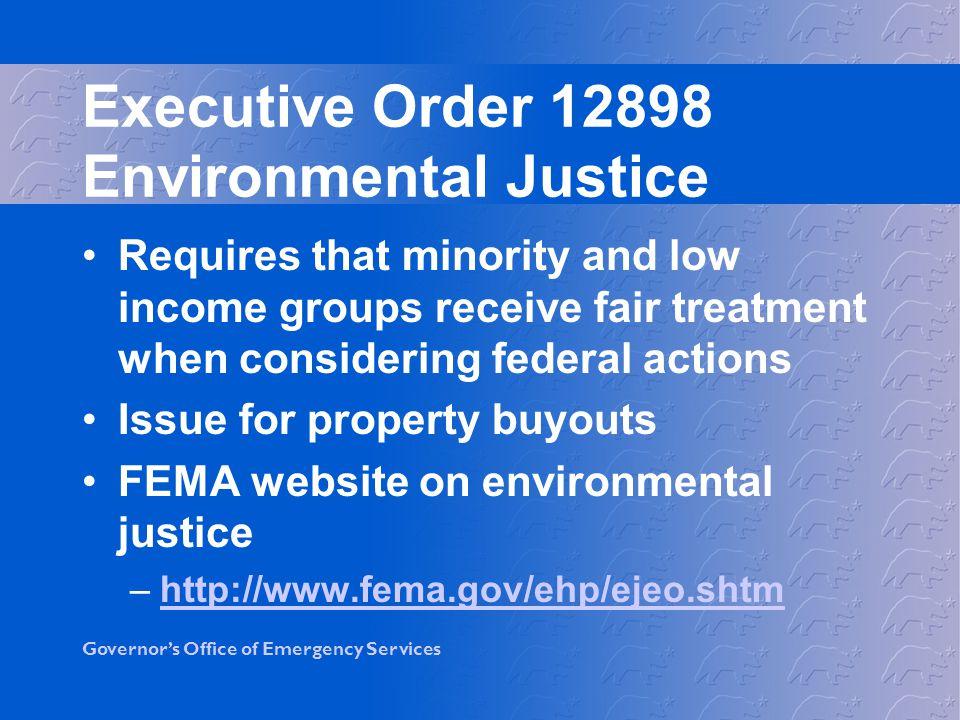 Executive Order 12898 Environmental Justice
